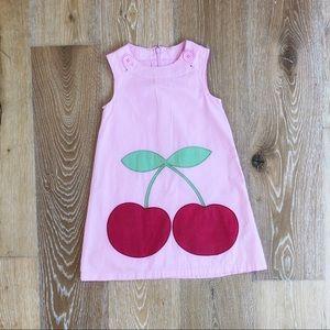 Mini Boden girl's 5/6 jumper dress pink